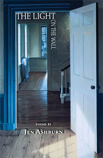 Book cover for The Light on the Wall, featuring the painting Empty Rooms by Edward Gordon